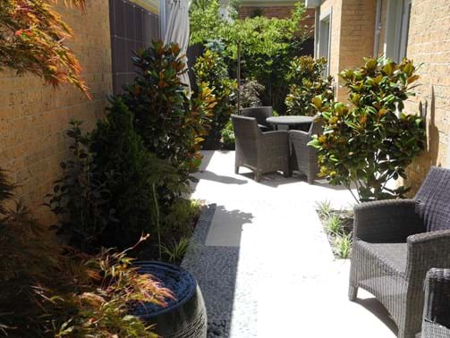 Landscape design Melbourne | Sandra McMahon Gardenscape Design | A series of rooms, each with its own function, can be created in even the smallest of gardens.